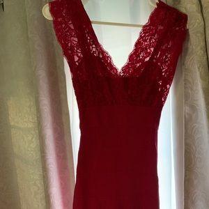 Bebe lace body con dress